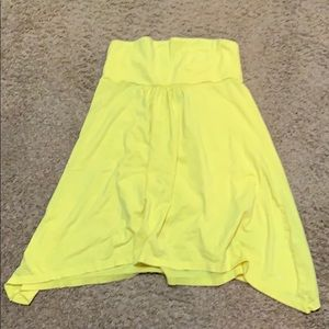 Beautiful Hurley yellow cover-up Large
